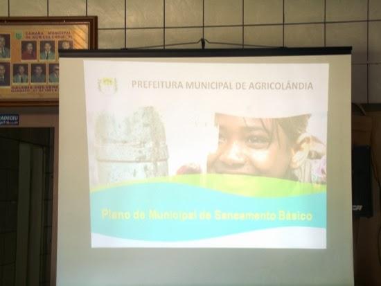 Agricolândia realizou audiência pública sobre o Plano Municipal de Saneamento Básico
