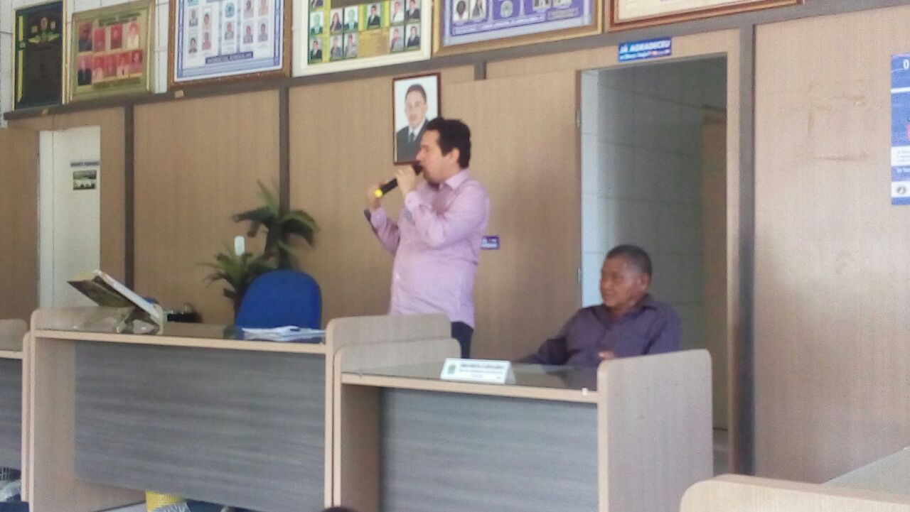 Palestra com o promotor de Justiça Drº. Nielsen Lima sobre a Mini Reforma Política